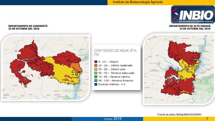 mapa Canindeyu - Alto Paraná
