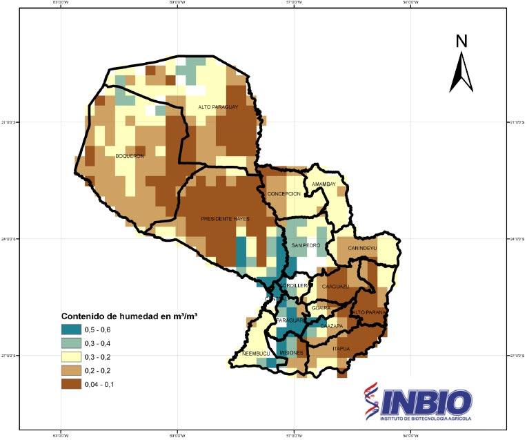 mapa de humedad
