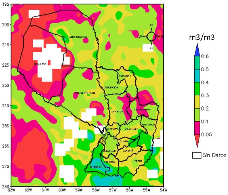 mapa Humedad del suelo