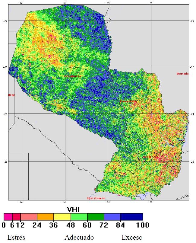mapa indice salud vegetacion 2018
