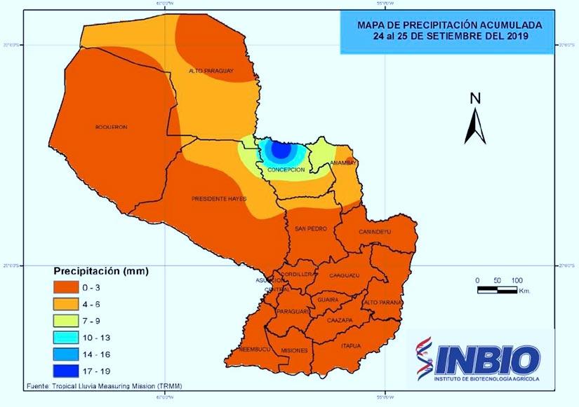 Mapa precipitacion acumulada