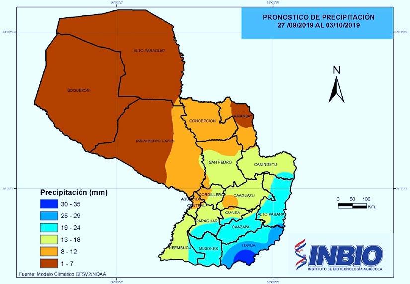 mapa Precipitacion pronosticada