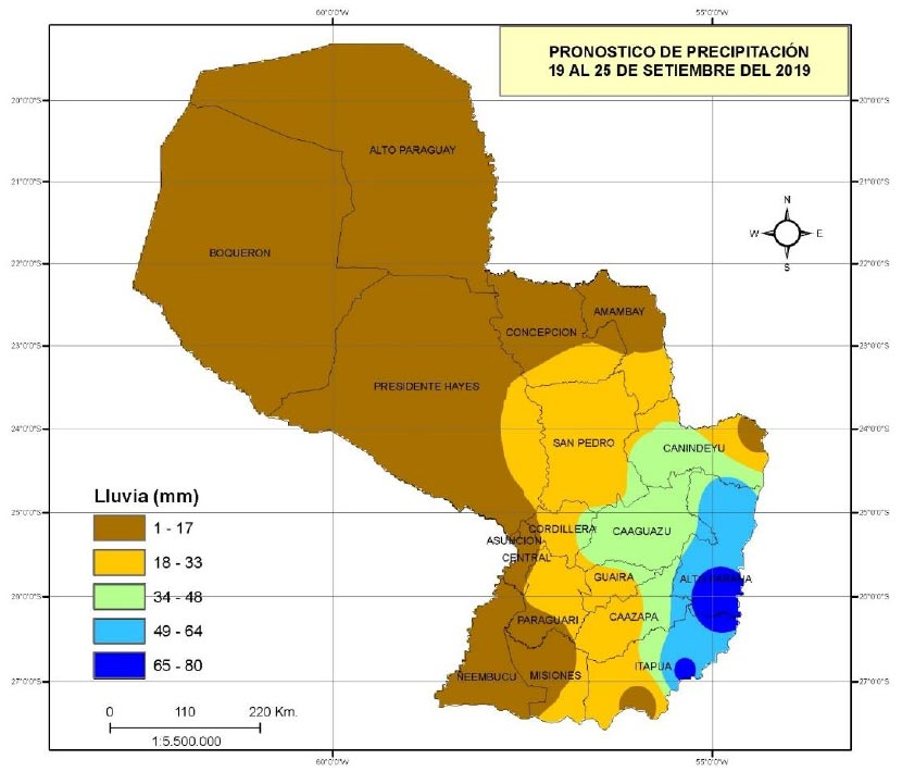 mapa Precipitacion