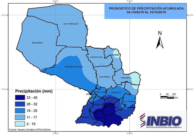 mapa Precipitación acumulada