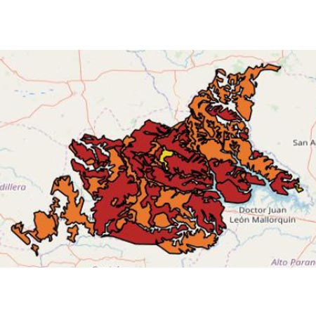 mapa Caaguazú