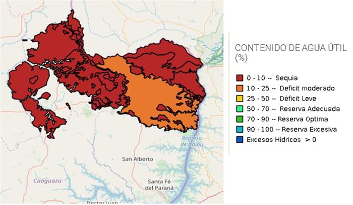 mapa Canindeyú